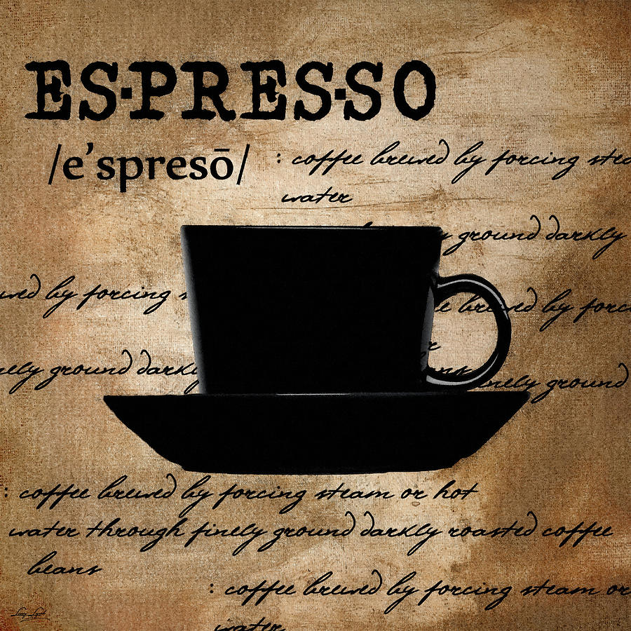 Espresso Digital Art - Espresso Madness by Lourry Legarde