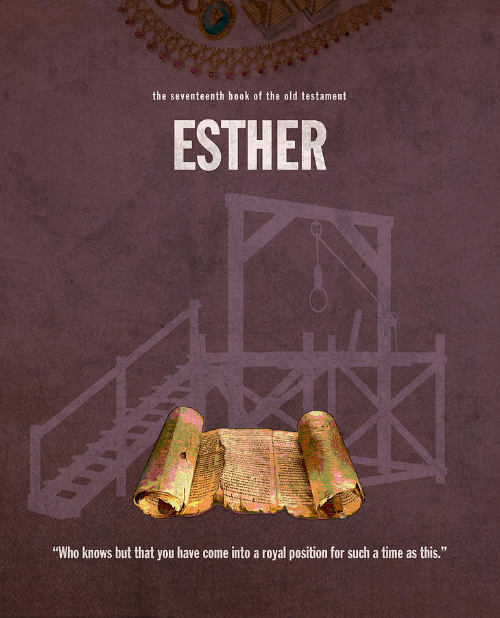 Esther Mixed Media - Esther Books Of The Bible Series Old Testament Minimal Poster Art Number 17 by Design Turnpike