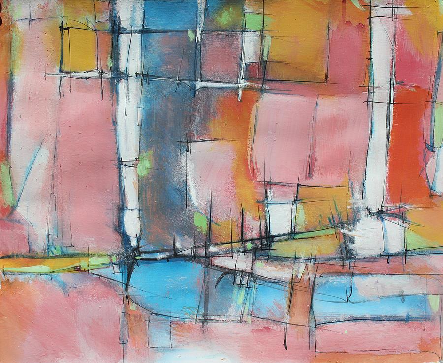 Abstract Painting  - Estuary City by Hari Thomas