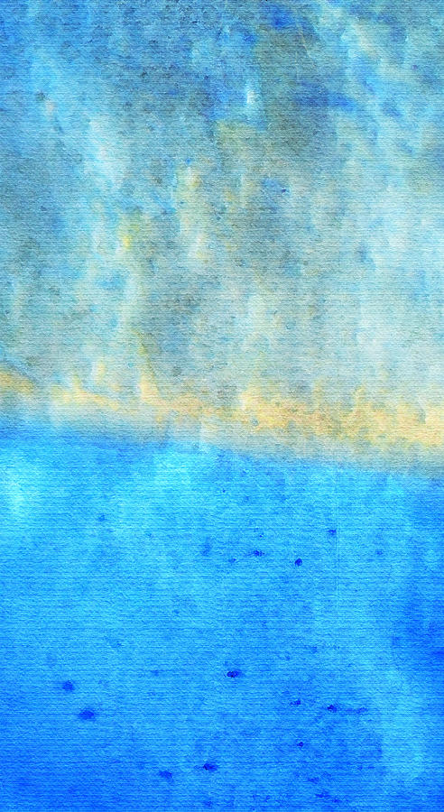 Water Painting - Eternal Blue - Blue Abstract Art By Sharon Cummings by Sharon Cummings
