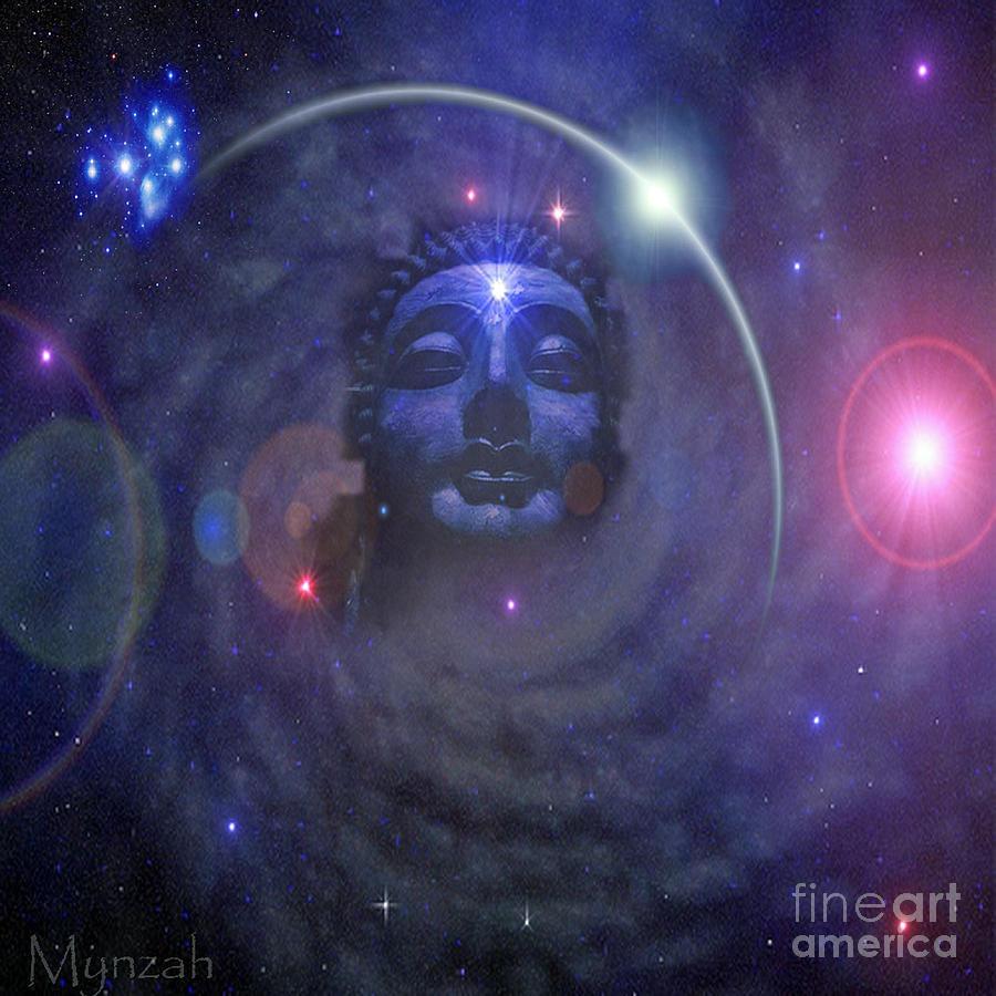 Eternal Buddha Digital Art by Mynzah Osiris