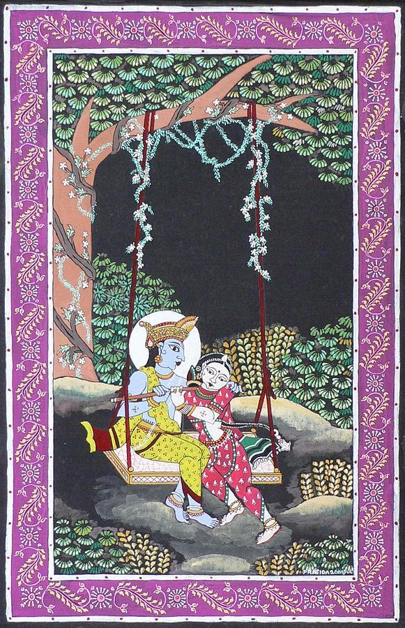 Krishna Painting - Eternal Romance by Prasida Yerra