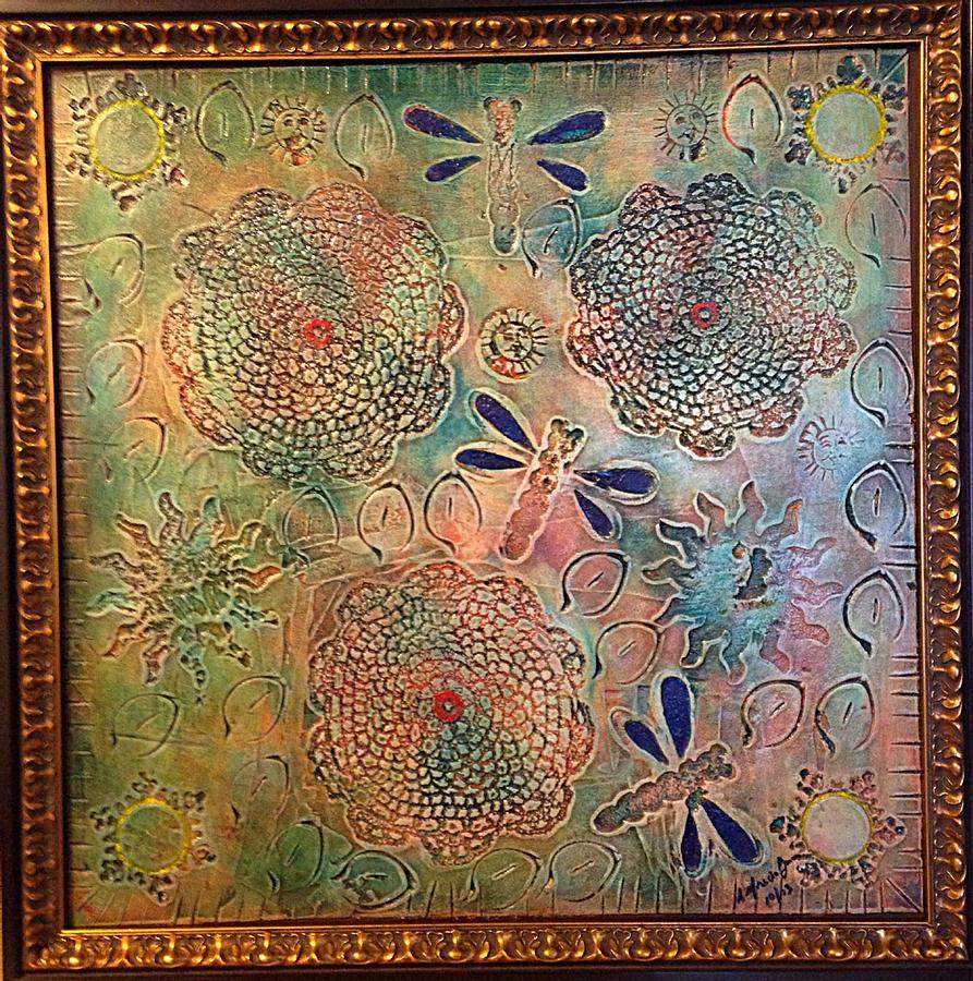 Alfredo Garcia Painting - Eternal Sun By Alfredo Garcia  by Alfredo Garcia