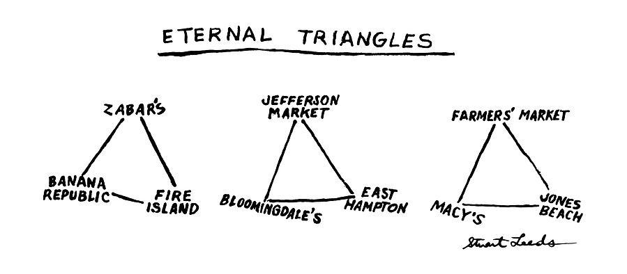 Eternal Triangles: Drawing by Stuart Leeds