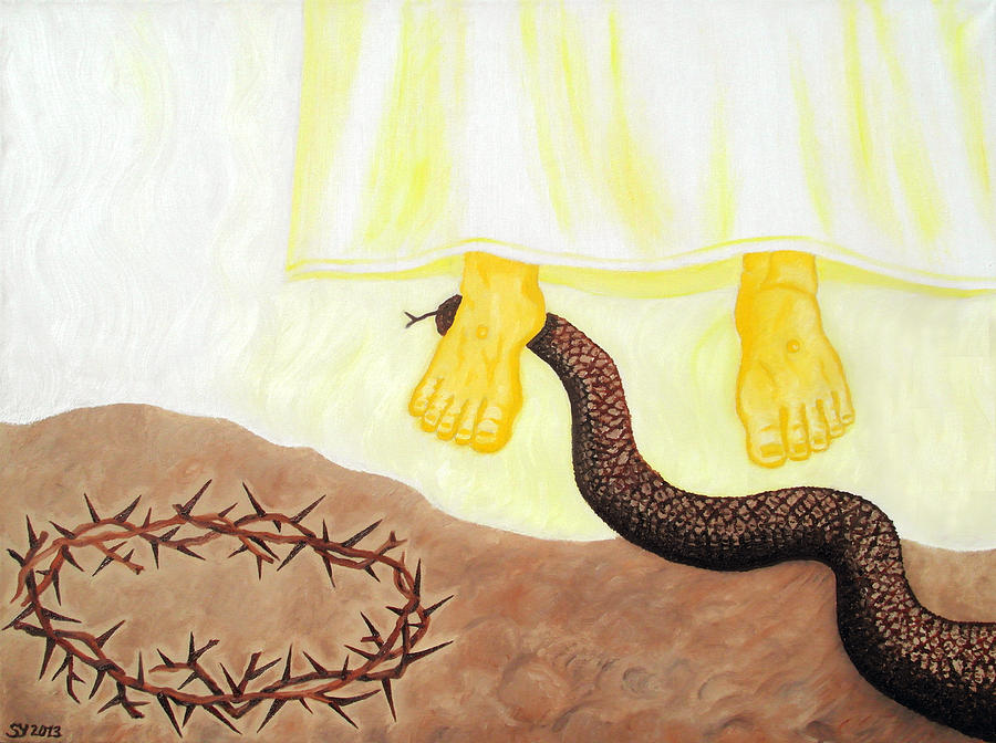 Jesus Christ Painting - Eternal Triumph by Sandra Yegiazaryan
