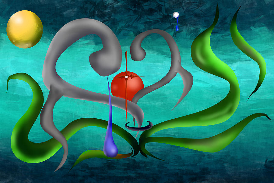 Abstract Digital Art - Eternity Of The Soul by M Hammami