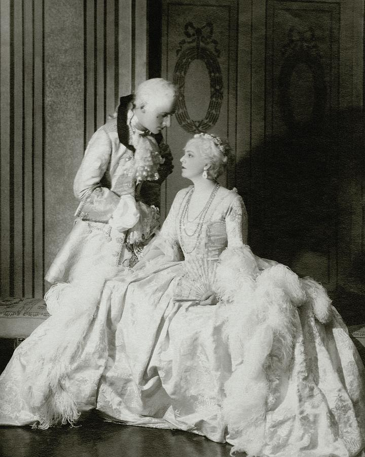 Ethel Barrymore And Henry Daniel In Costume Photograph by Francis Bruguiere