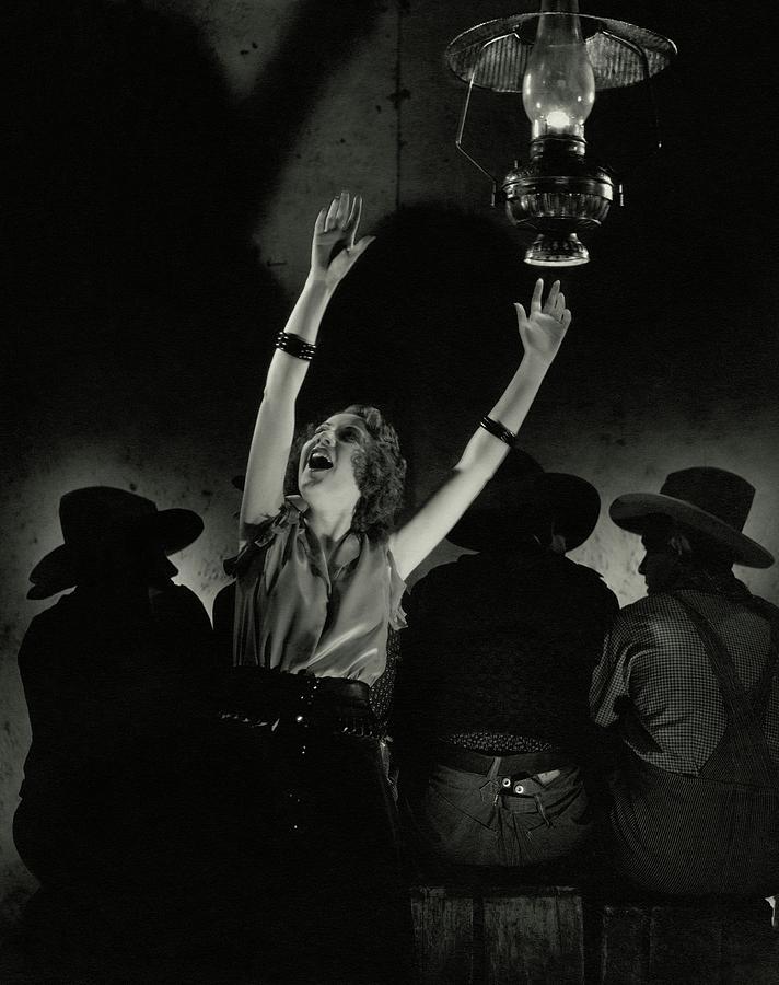 Ethel Merman In The Play Girl Crazy Photograph by Edward Steichen