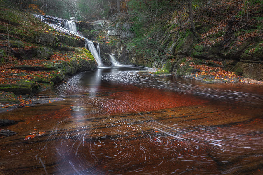 Enders Falls Photograph - Ethereal Autumn by Bill Wakeley