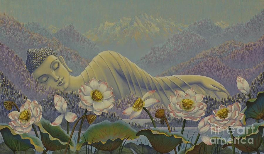 Buddha Painting - Ethereal Buddha by Yuliya Glavnaya