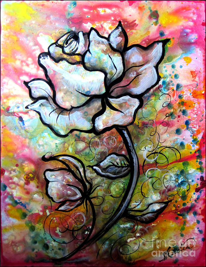 Ethereal Rose Painting