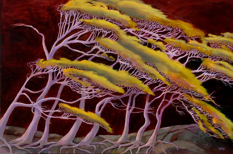 Trees Painting - Ethereal Winds by Sue  Darius