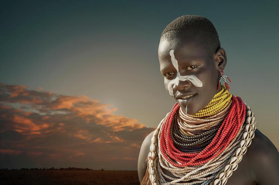 Ethiopia, Omo Valley, Karo Woman Photograph by Buena Vista Images