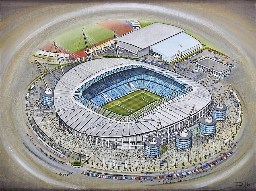 6ce358c16 City Of Manchester Painting - Etihad Stadium - Manchester City by D J Rogers