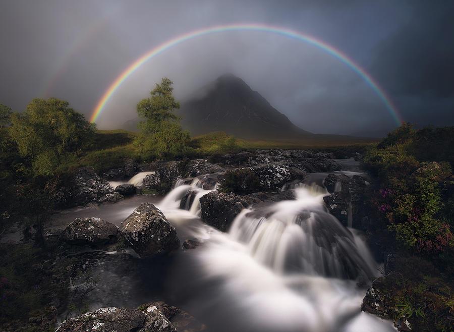 Glencoe Photograph - Etive Rainbow by Antonio Prado P?rez