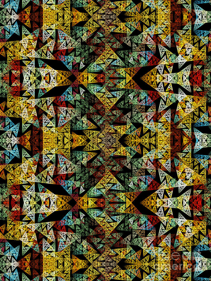 Pattern Digital Art - Etno Style Pattern by Klara Acel