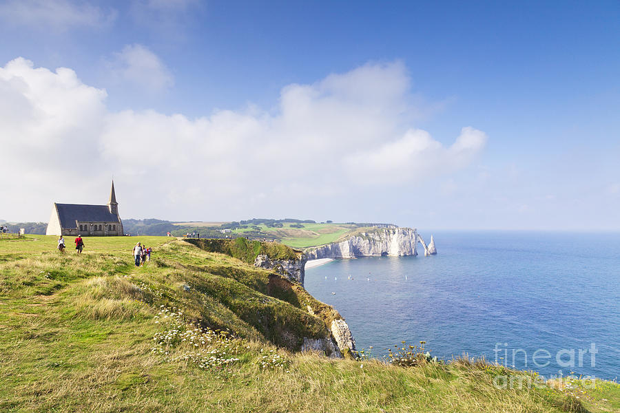 Church Photograph - Etretat by Colin and Linda McKie