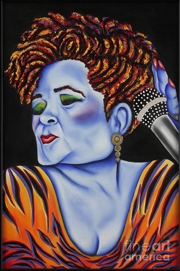 Portrait Painting - Etta by Nannette Harris