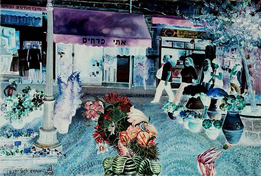 Arcimboldo Painting - Ettis Flowers by Nekoda  Singer