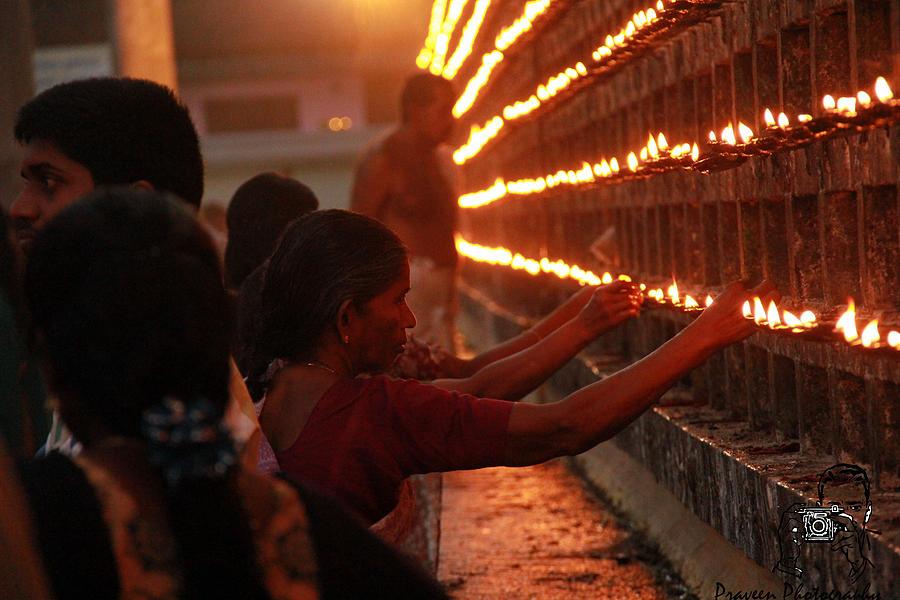 Photograph - Ettumanoor Temple Chuttuvilakie  by Praveen P nair