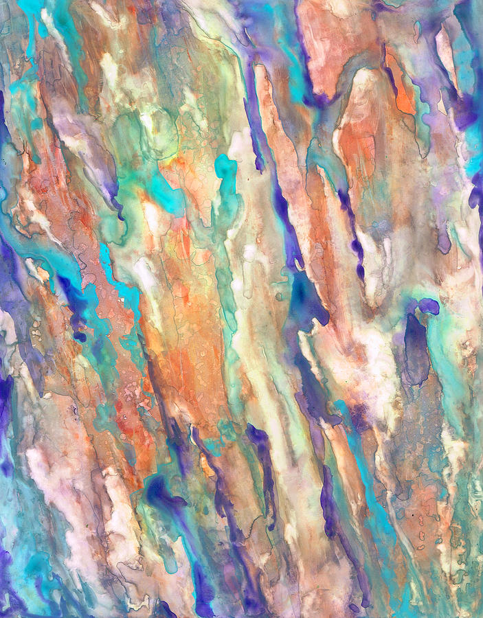 Abstract Painting - Eucalyptus by Rosie Brown