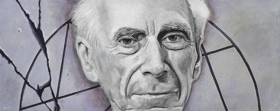 Bertrand Russell Painting - Euclid- Bertrand Russell by Simon Kregar