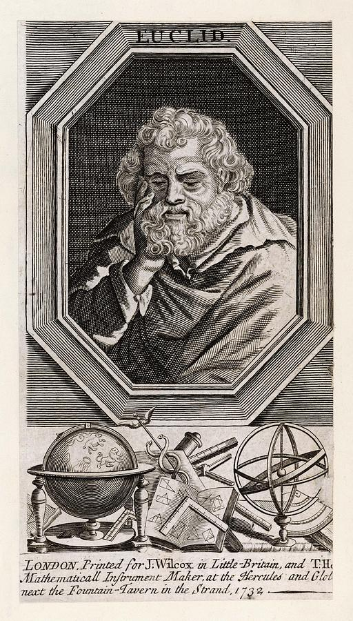 Euclid Drawing - Euclid  Mathematician Of Alexandria by Mary Evans Picture Library