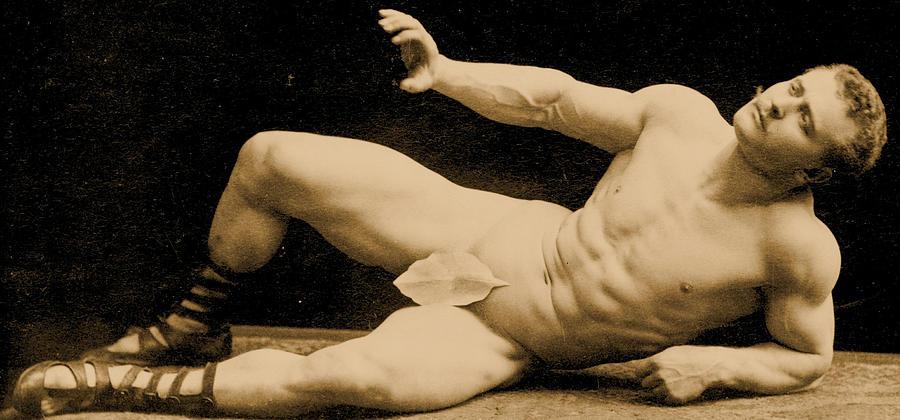 Male Photograph - Eugen Sandow by Benjamin J Falk