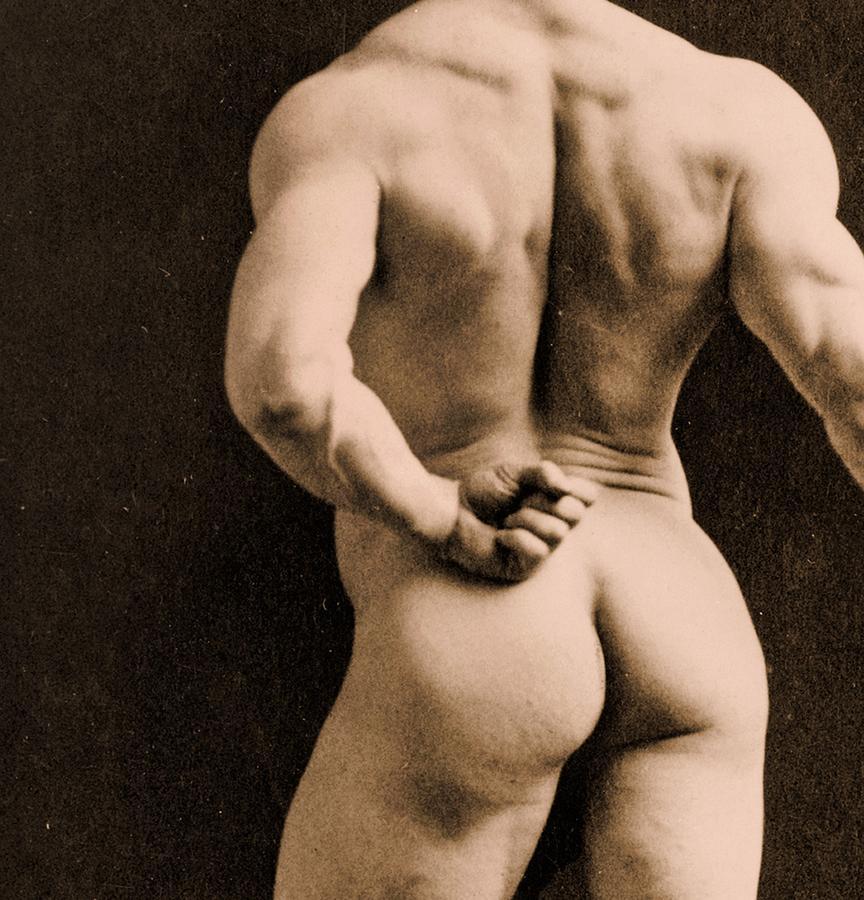 Rear Photograph - Eugen Sandow by Napoleon Sarony