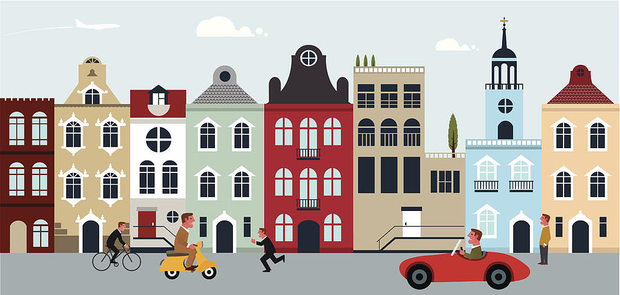 European City Digital Art by Thorbjorn66