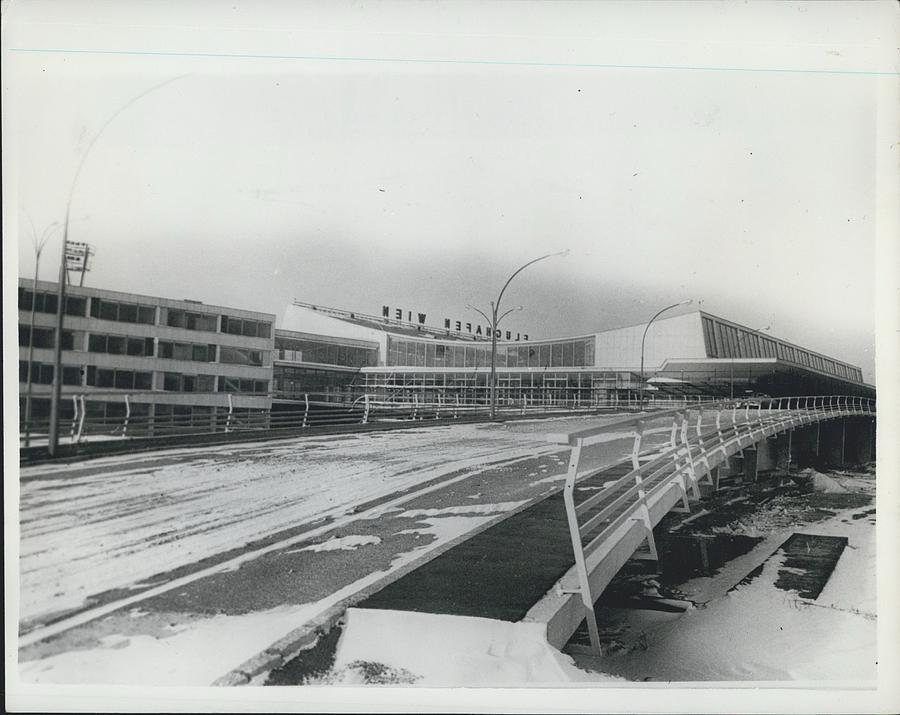 Retro Photograph - Europes  Most Modern Airport - Under Construction. Vienna by Retro Images Archive