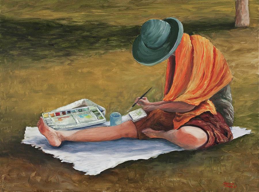 Oil Painting Painting - Eva by Darice Machel McGuire
