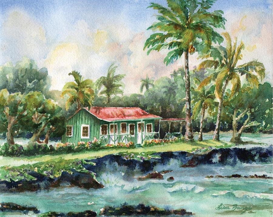 Cottage Painting - Eva Parker Woods Cottage by Lisa Bunge