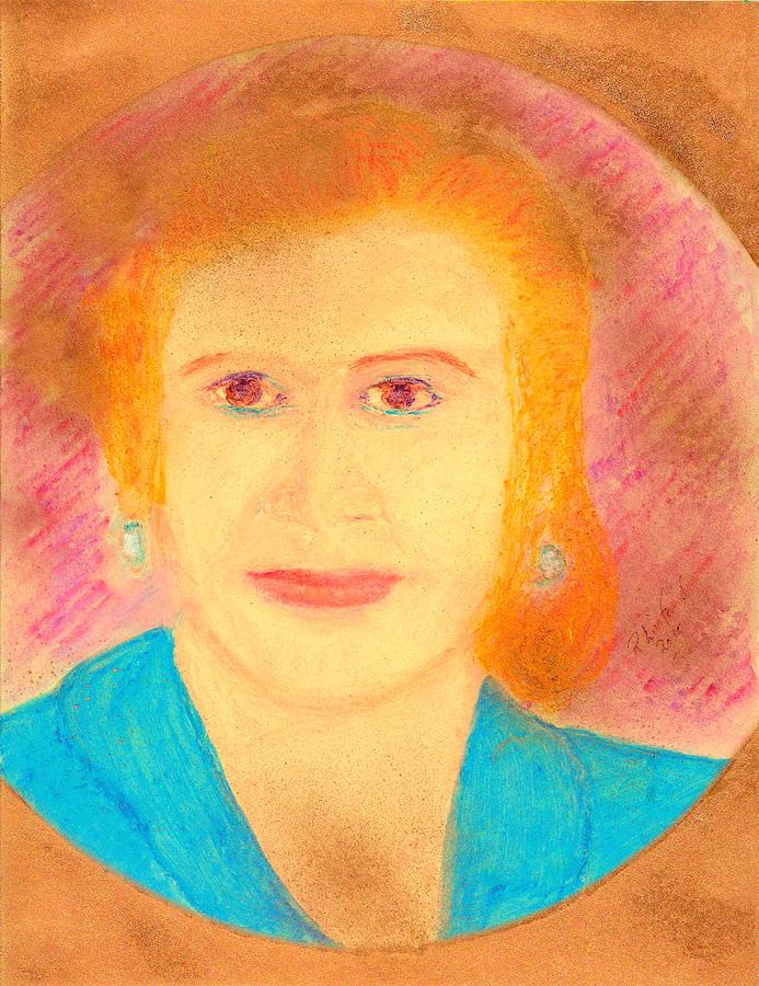 Eva Peron Painting - Eva Peron Orange by Richard W Linford