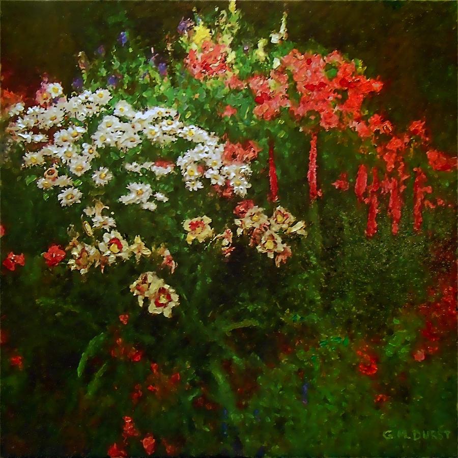 Flowers Painting - Evanston Garden by Michael Durst
