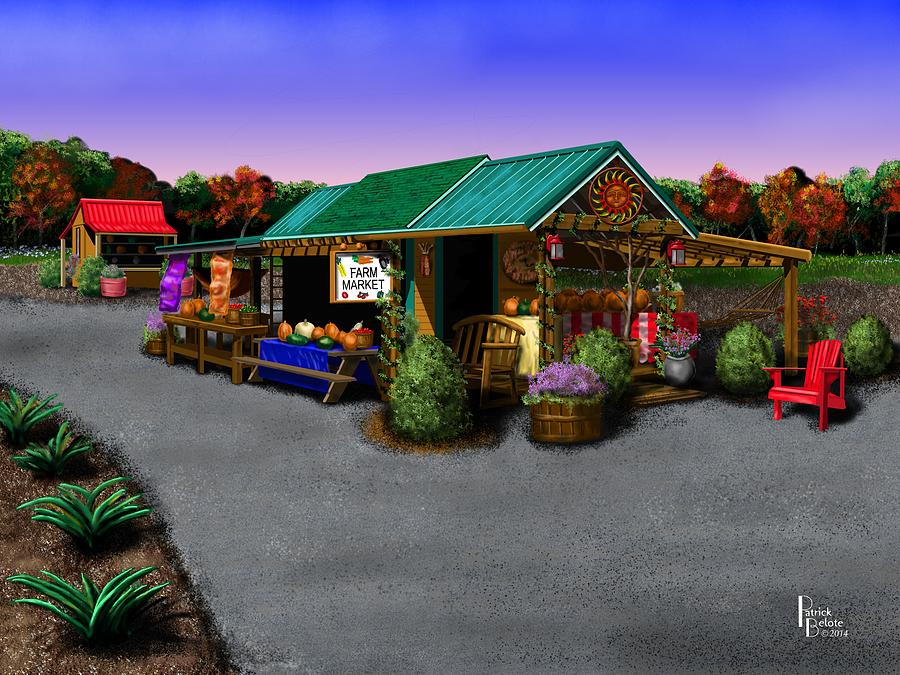 Landscape Digital Art - Evas Farm Market by Patrick Belote