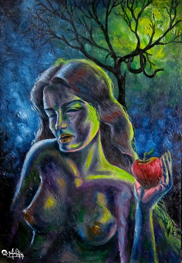 Portrait Painting - Eve by Yonan Fayez