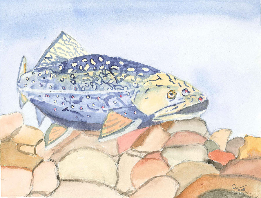 Trout Painting - Even Troutbums Get The Blues by David Crowell