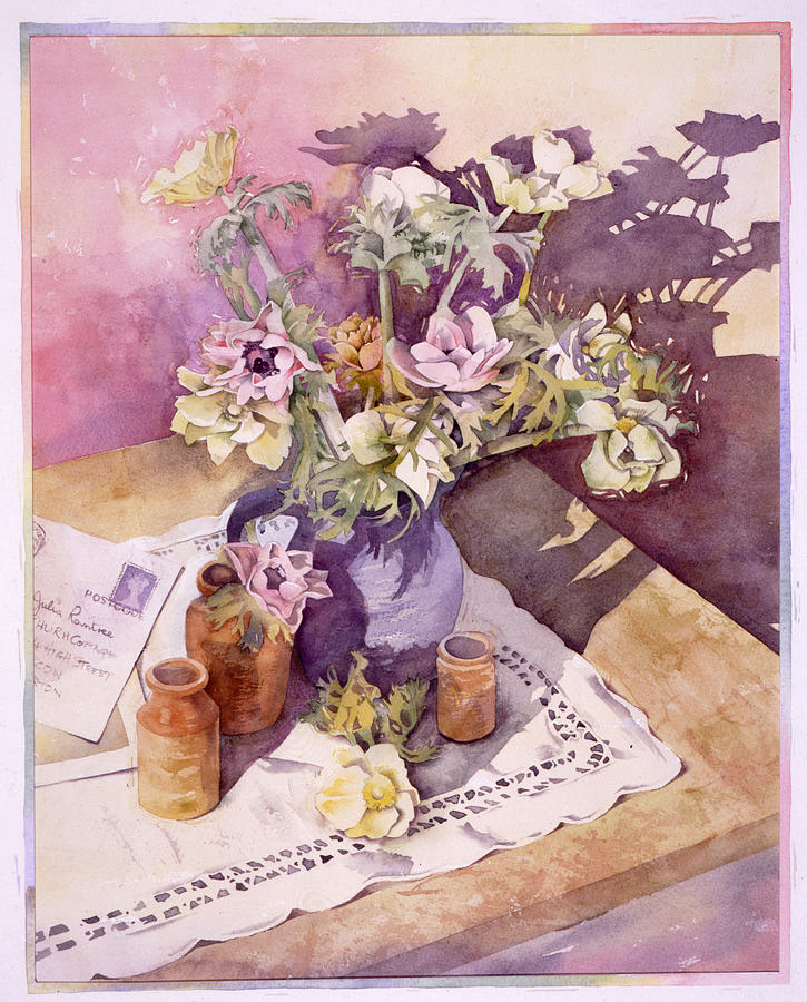 Illustration Photograph - Evening Anemones by Julia Rowntree