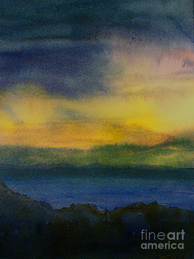 Watercolor Painting - Evening Approaching 1 by Gwen Nichols