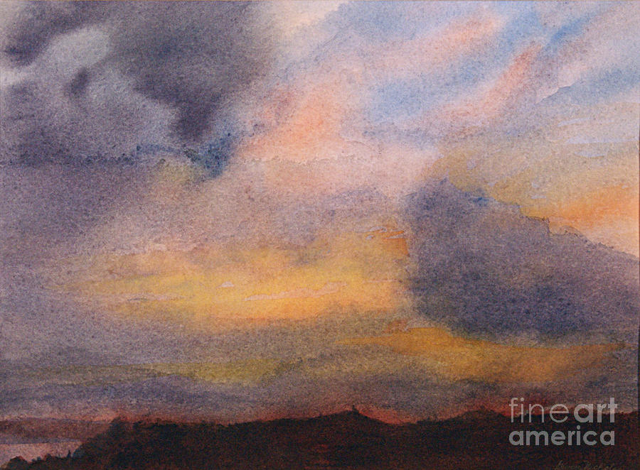 Watercolor Painting - Evening Approaching 2 by Gwen Nichols