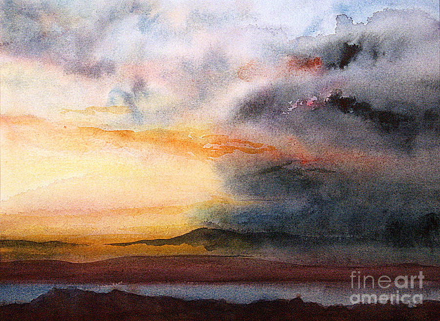 Watercolor Painting - Evening Approaching 3 by Gwen Nichols