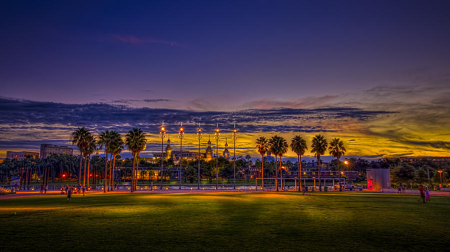 Sunset Photograph - Evening At The Park by Marvin Spates