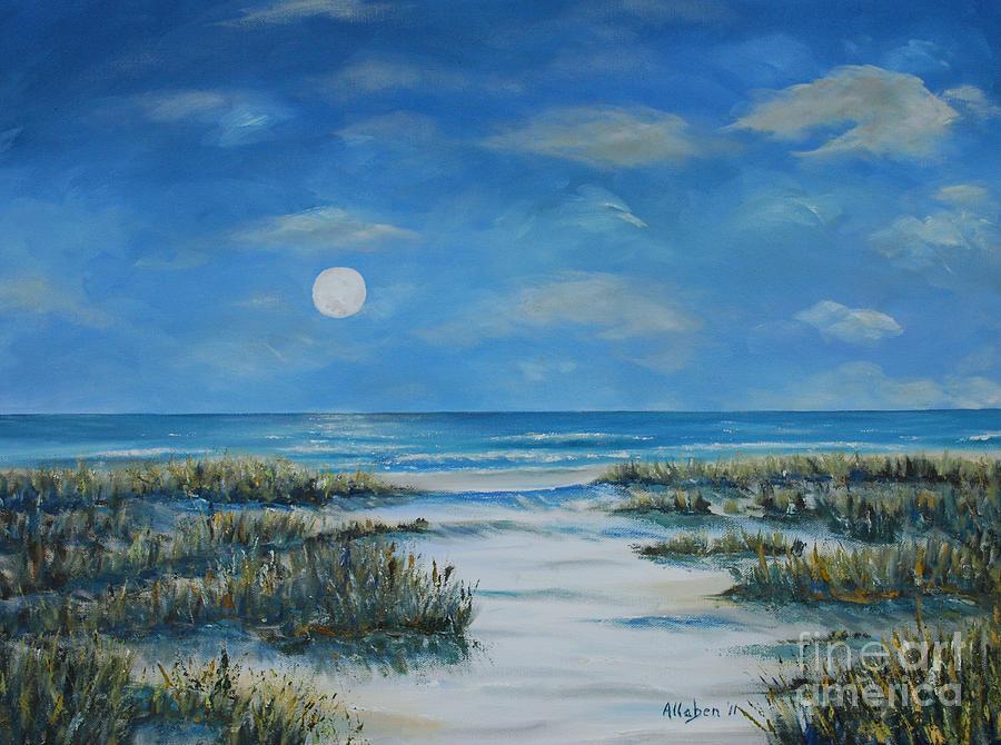 Beach Painting - Evening Calm by Stanton Allaben
