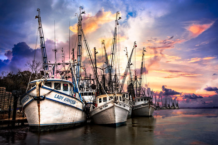 Boats Photograph - Evening Colors by Debra and Dave Vanderlaan