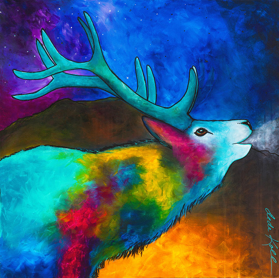 Evening Elk by Dede Koll