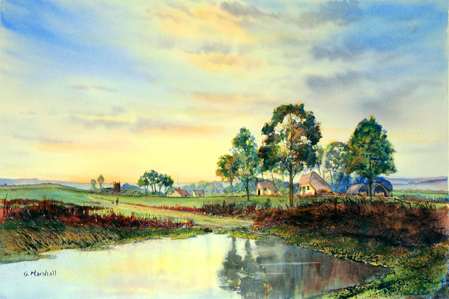 Watercolour Painting - Evening Falls by Glenn Marshall