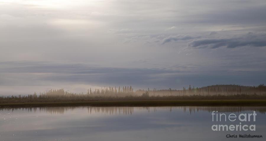 Alaska Photograph - Evening Fog by Chris Heitstuman