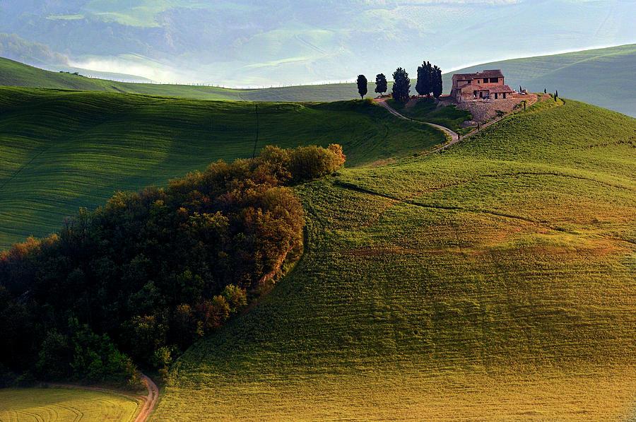 Hill Photograph - Evening Hills by Izidor Gasperlin