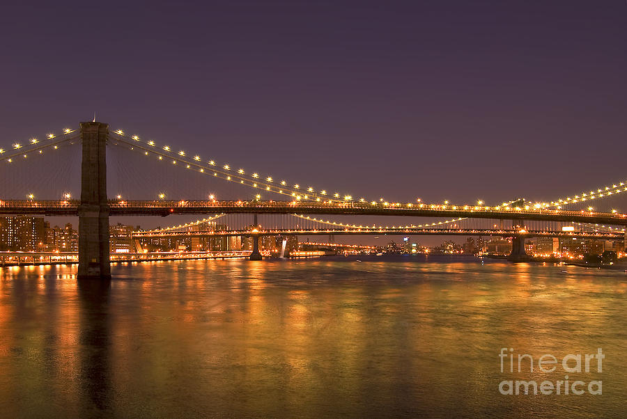 New York City Photograph - Evening II New York City Usa by Sabine Jacobs